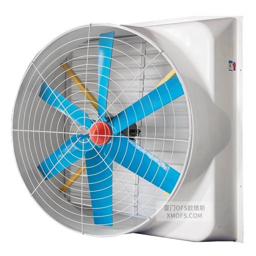 经济定速版玻璃钢负压风机(玻璃钢6叶片)